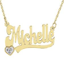 personalized gold necklace name personalized gold plated sterling silver diamond necklace