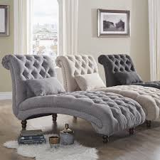 Oversized Living Room Chairs Knightsbridge Tufted Oversized Chaise Lounge By Signal Hills Grey