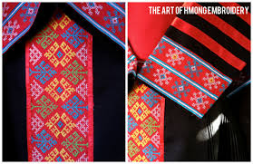 hmong cross stitching the of hmong embroidery