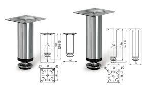 adjustable plinth leg chrome u2022 rejs ltd