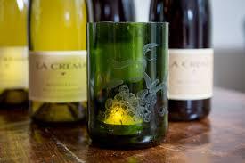 diy etched wine bottle votive holder