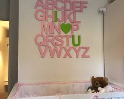 nursery wall letters wooden alphabet set alphabet wall