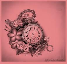 Feminine Clock - pocket feminine pencil and in color pocket