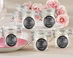 wedding favor jars personalized eat drink be married glass favor jars set of 12