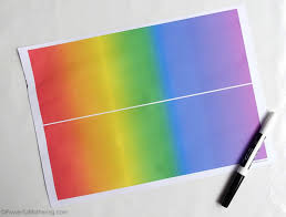 printable paper puzzles rainbow my name puzzles