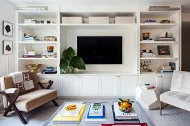 Living Room Built In Living Built In Shelves With Picture Lights Design Ideas