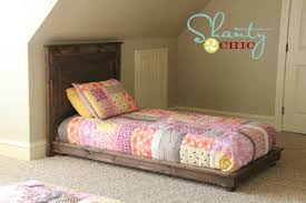 Build A Platform Bed Frame Plans by Ana White Fillman Platform Twin Platform Bed Diy Projects