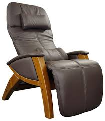 svago zero gravity brown leather recliner chair lift and