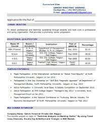 Mba Resume Example Professional Fresher Resume Resume Templates Professional