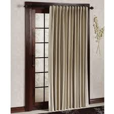 Sliding Patio Door Curtain Ideas Traditional Brown Striped Patterned Fabric Roller Curtain