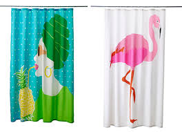 Teal Curtains Ikea Flamingo Decor From Ikea Cheery Shower Curtains For Just 14 99