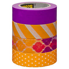 Washi Tape What Is It Scotch Expressions Washi Tape 4 Pack Yellow And Purple Officeworks