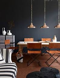 Copper Walls Love These Copper Light Fixtures And Navy Blue Walls Together