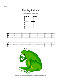 tracing letters f u2014 instant worksheets