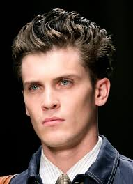hair styles for biys with wavy hair men s brushed back hairstyles picture gallery