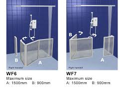 Disabled Half Height Shower Doors Contour Showers Uk Specialists In Disabled Showers Corner