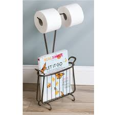 amazon com interdesign axis free standing toilet paper holder and
