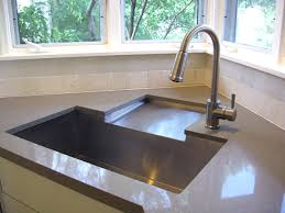 Innovative Corner Sink Idea Drainboard To Rear Sink Fabricated - Kitchen sink with drying rack