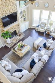 great room decor decked and styled spring home tour kelley nan two story living