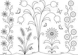 libro colorear flores mariposas illustracion libre