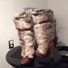 womens fur boots size 9 83 colin stuart shoes colin stuart s fur boots size 9