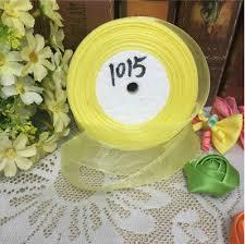 organza ribbon wholesale 10 yards lot 1 25mm yellow organza ribbons wholesale gift