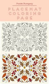 printable coloring thanksgiving placemats placemat thanksgiving