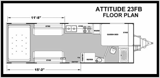 attitude toy hauler floor plans 2014 eclipse attitude metal 23fb travel trailer mesa az little dealer
