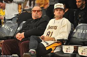 jack nicholson puffs on an electronic cigarette with son daily