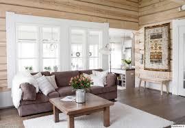 talonpokaistyyli hirsiseinä ryijy tupa mökki olohuone interiors