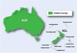 auckland australia map topo australia and new zealand light garmin