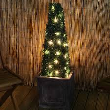2 5ft boxwood outdoor artificial topiary tree with lights pre