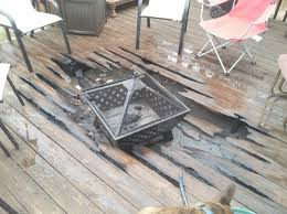 can you put fire pit on wood deck fire pit ideas