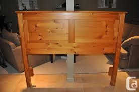 queen bed solid pine mennonite headboard and rails burlington