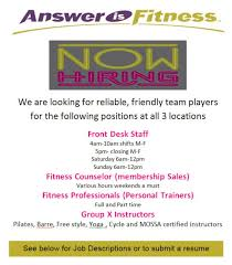gyms hiring front desk near me gyms hiring front desk 1 employment opportunities answer is