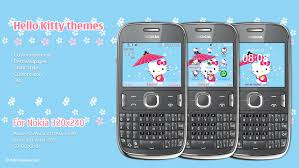 nokia 206 cute themes hello kitty blue theme asha 205 asha 210 asha 200 asha 201 asha 302