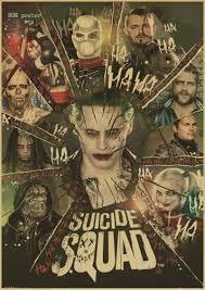 Harley Home Decor Online Shop Squad Dc Comics Movie Vintage Poster Harley