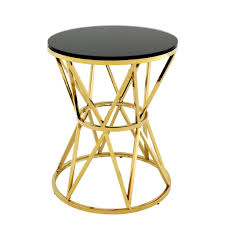 black and gold side table gold side table l eichholtz domingo oroa modern furniture