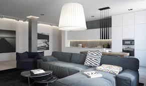 soft black color scheme for small apartment interior design