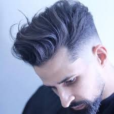 textured top faded sides low fade haircut