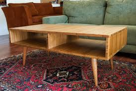 century plywood mid century modern style coffee table made with plyboo bamboo