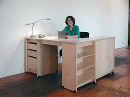 L Shaped Studio Desk Art Studio Storage Furniture With Locking Drawers And Art Storage