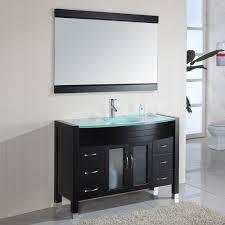 minimalist decorating ideas using grey wall and rectangular brown