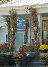 Corn Stalk Decoration Ideas 12 Easy Fall Decorating Ideas For Your Porch Or Yard