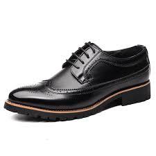 wedding shoes mens aliexpress buy men brogue formal shoes low top mens wedding