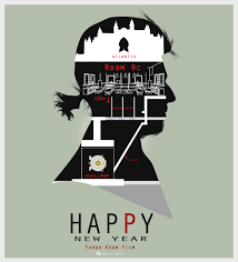 happy new years posters minimal new year poster merry christmas and happy new year 2018