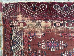 Antique Washed Rugs Antique Yomud Kepse Gul Main Carpet Washed But Otherwise As Found