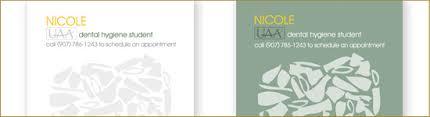 Dental Hygienist Business Cards Arctic Pixel Llc Custom Web Print And Logo Design