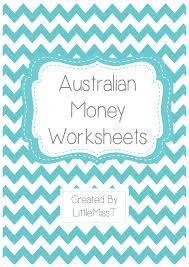 australian money worksheets teach in a box