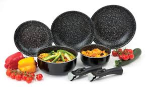 batterie cuisine induction manche amovible batterie de cuisine amovible revêtement effet groupon shopping